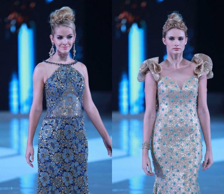 Miss United States Olivia Jordan (L) and Miss Italy Sarah Baderna (Photo: MissWorld/Facebook)