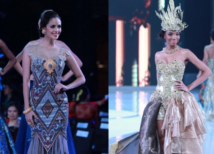 Miss Philippines Megan Young (L) and Miss Cameroon Denise Valerie Ayena (Photo: MissWorld/Facebook)