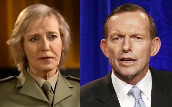 Cate McGregor and Tony Abbott