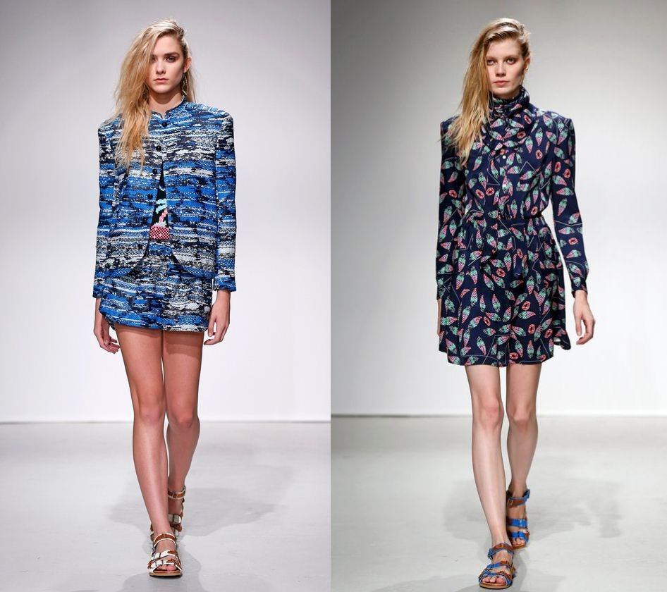 Julien David's collection widely included blue patterns. (Photo: Reuters)