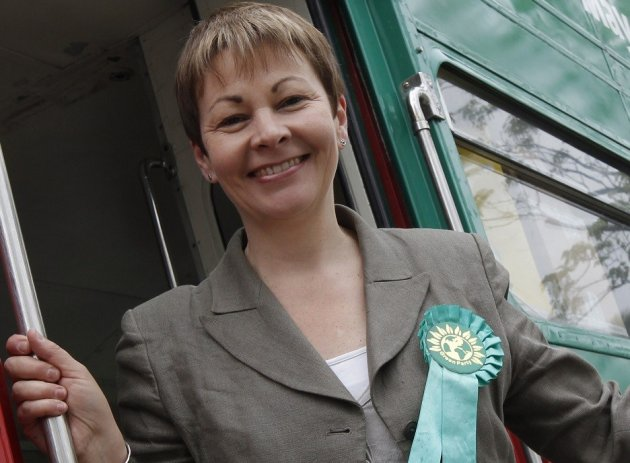 Caroline Lucas MP charged over Balcombe Village fracking protest PIC: Reuters