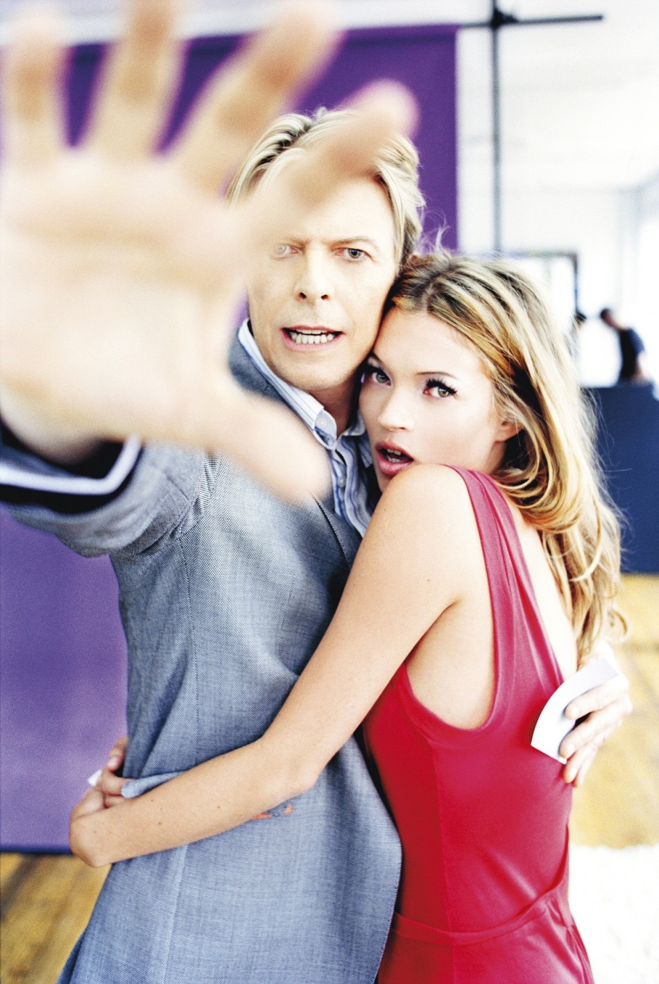 David Bowie & Kate Moss, for Q Magazine, October 2003