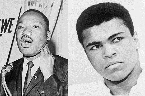 Martin Luther King and Muhammad Ali