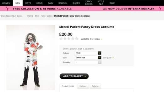 Asda 'mental patient' fancy dress costume has sparked outrage: PIC: Asda