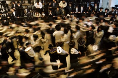 The main celebration of Simhat Torah takes place in the synagogue during evening and morning services