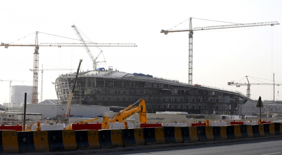 Qatar is experiencing a construction boom after wining the 2022 World Cup PIC: Reuters