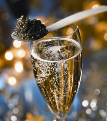 Caviar and champagne was being served at the Toffs Services launch at Kensington's Ruskis in London (Photo: Ruskis Gallery)