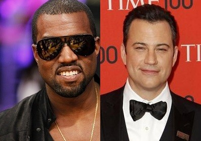 Kanye West and Jimmy Kimmel