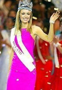Miss World 2003 was Rosanna Diane Davison from Ireland (http://rosanna.ie/)