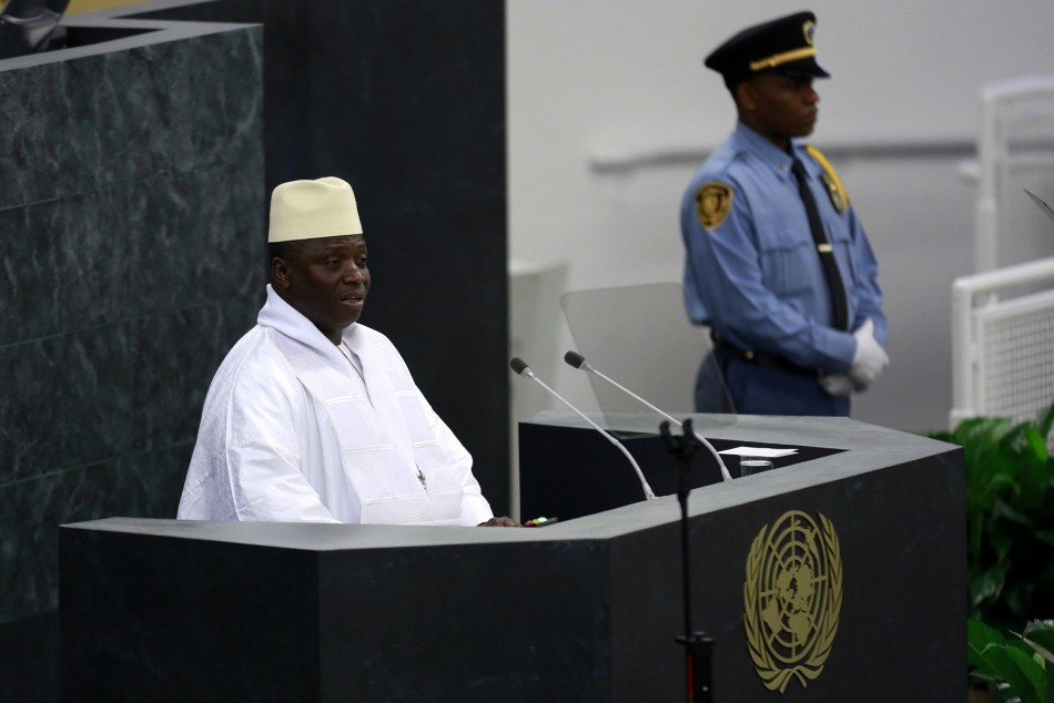 President of Gambia Yahya Jammeh addresses the UN General assembly in New York