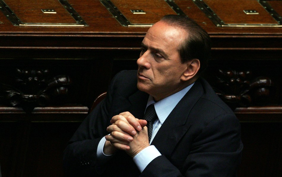 Three time Italian prime minister Silvio Berlusconi