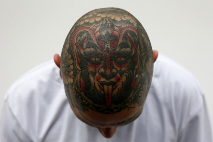 Tattoos are no longer limited to the upper arms but entire heads.