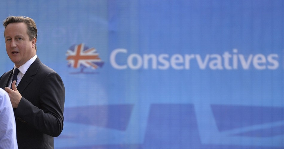 David Cameron arrives in manchester for the annual Conservative Party conference.