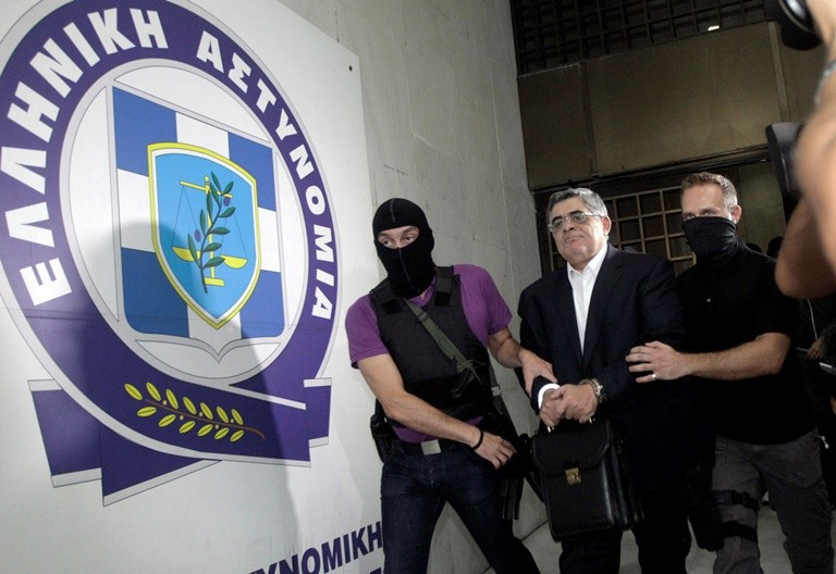 Under arrest: Nikolaos Michaloliakos