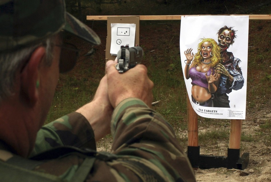 Marksman practices at a range in Washington.
