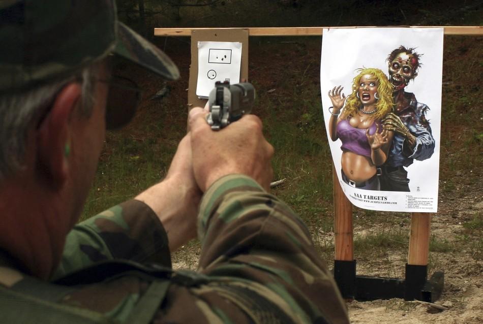 Marksman practices at a range in Washington.