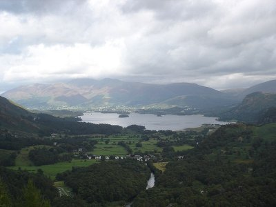 Borrowdale, Cumbria from Castle Crag