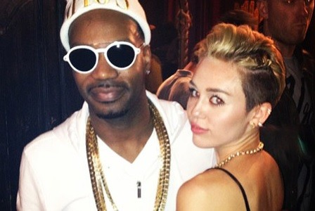 Juicy J and Miley Cyrus