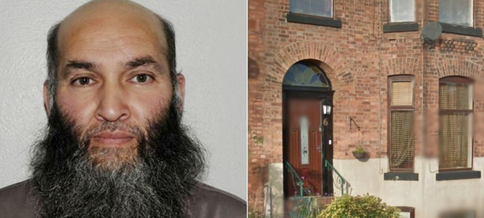 Munir Farooqi and his home being targeted by Manchester Police PIC: GMP & Google