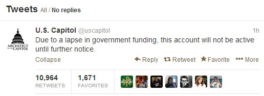 US Capitol Tweet