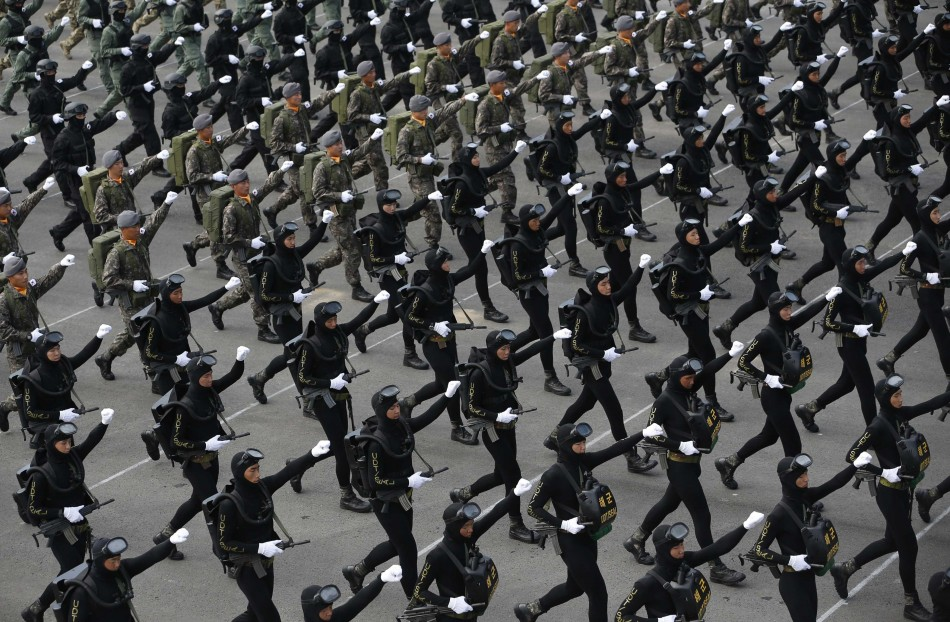 South Korea holds biggest military parade in a decade