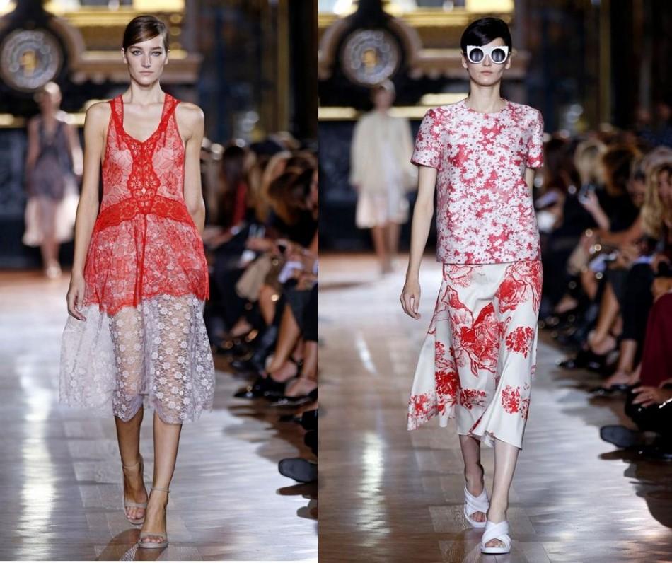 Models present creations designed by Stella McCartney. (Photo: REUTERS/Benoit Tessier)