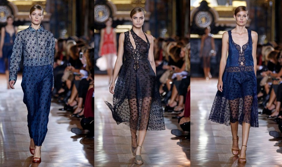 Lace dress defined McCartney's collection for summer 2014. (Photo: REUTERS/Benoit Tessier)