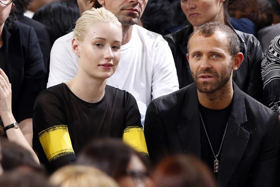 Singer Iggy Azalea and Stefano Rosso attend Belgian fashion house Maison Martin Margiela Spring/Summer 2014 women's ready-to-wear fashion show. (Photo:  REUTERS/Charles Platiau)