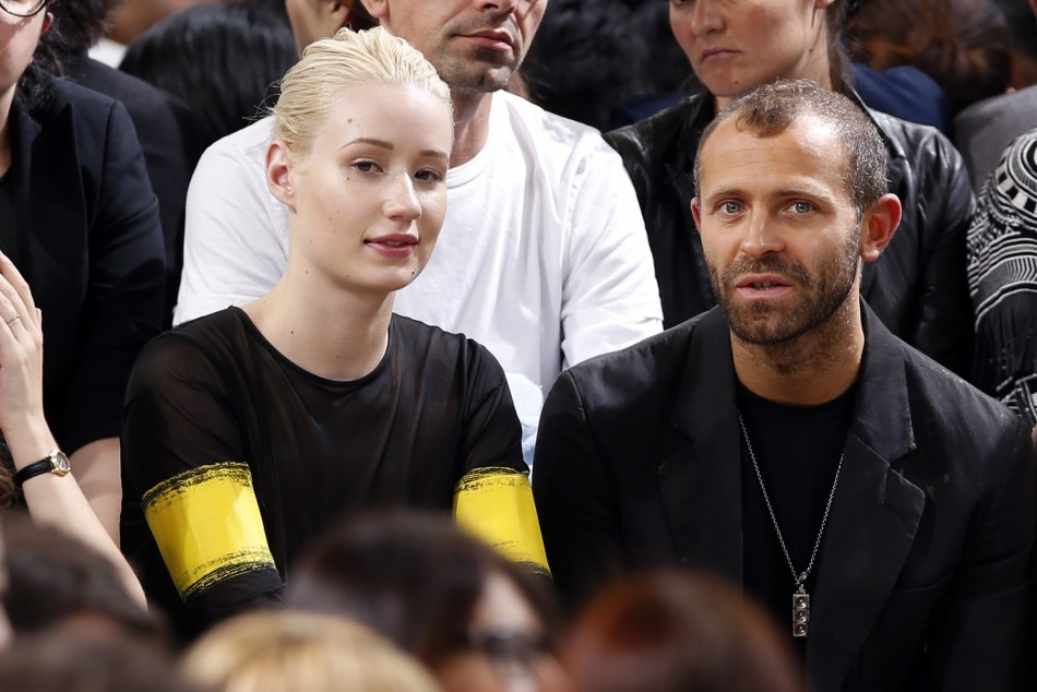 Singer Iggy Azalea and Stefano Rosso attend Belgian fashion house Maison Martin Margiela Spring/Summer 2014 women's ready-to-wear fashion show. (Photo:  REUTERS/Charles Platiau)
