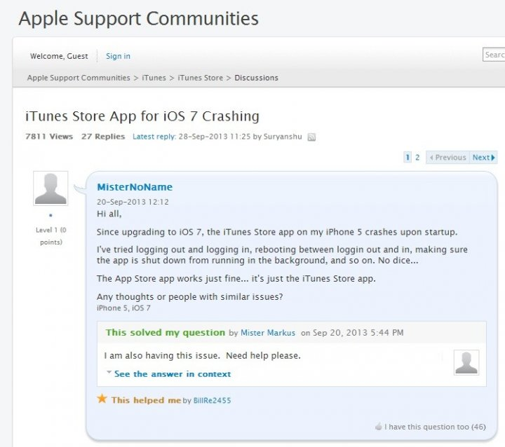 Fix iTunes Store App Crashing Issue in iOS 7 [TUTORIAL]