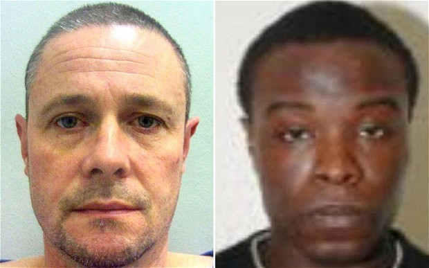 April Jones murderer Mark Bridger (l) and Juvinal Ferreira PIC: CPS