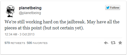 iOS 7 Jailbreak Status: Planetbeing Tweets Evad3rs Have All Pieces for Jailbreak