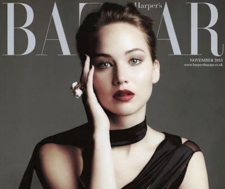 Oscar winning-actress Jennifer Lawrence looked stunning on the cover of Harper's Bazaar UK's November issue.(Harper's Bazaar UK)