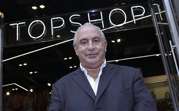 Sir Phillip Green is accused of being a 'conduit' for Scott Young's £400m wealth (Bloomberg)
