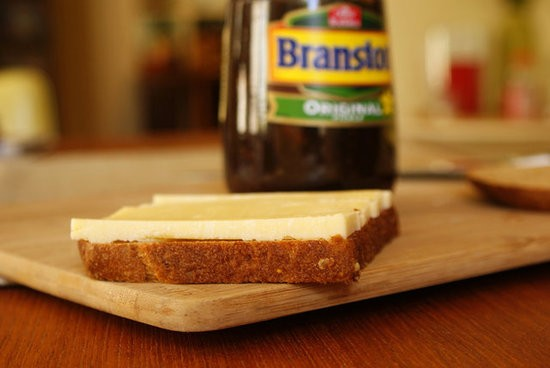 Branston pickle and Cheddar cheese