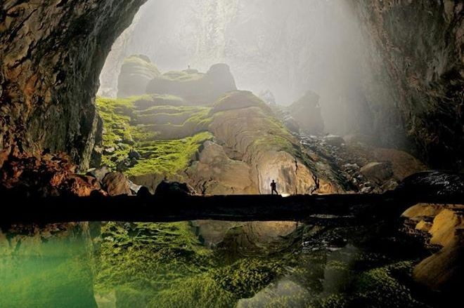 Vietnam's Son Doong Cave having an underground forest and a river flowing through inside it, is said to be the world's largest cave. The cave has been opened to tourists now. (Photo: som.dong.1/Facebook)