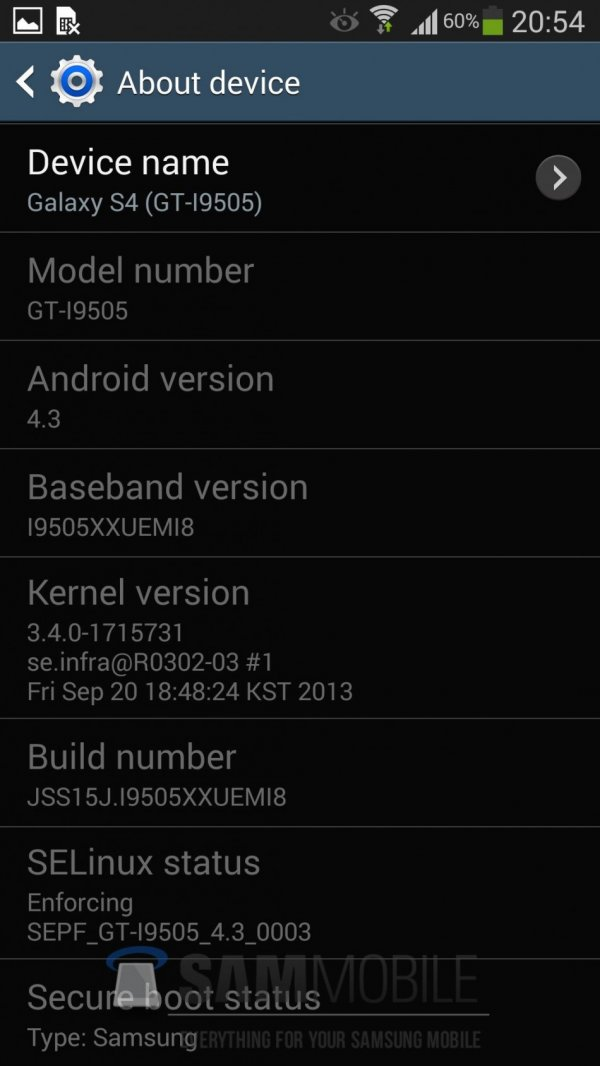 Update Galaxy S4 GT-I9505 to Android 4.3 via XXUEMI8 Leaked Test Firmware [How to Install]