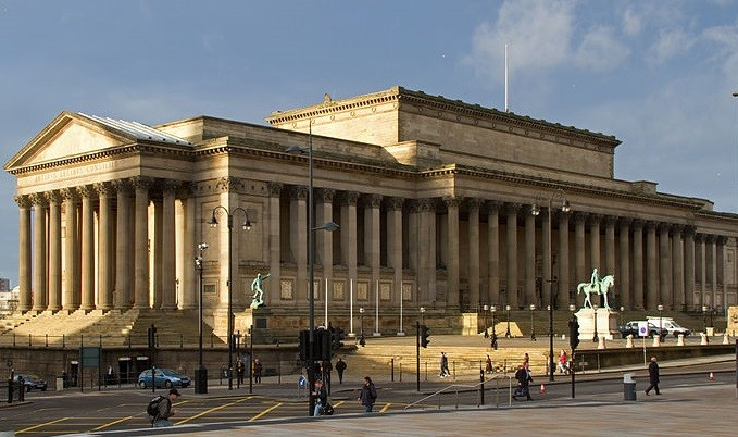 St George's Hall in Liverpool was sen wedding day bomb threat PIC: Wikicommonc