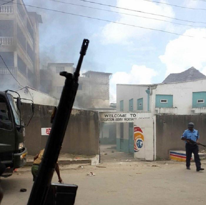 Mombasa Church fire violence