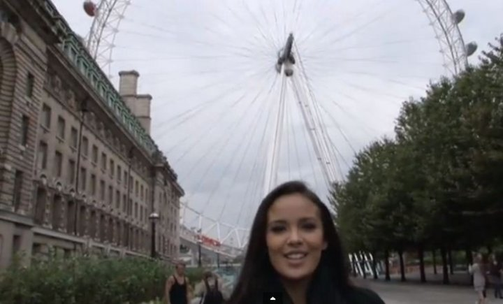 Megan Young poses at London Eye. (Photo: YouTube Video Screenshot/Miss World Organisation)