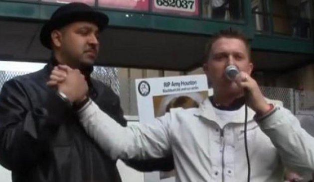 Singh and Robinson share platform at EDL event