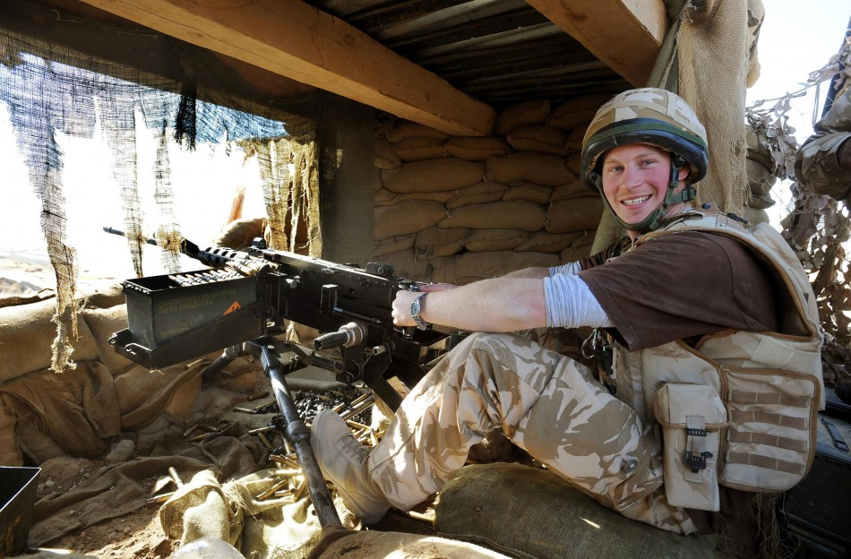 Prince Harry at war with the Taliban in Afghanistan in 2008 PIC: Reuters