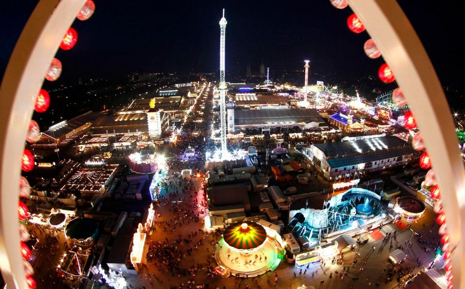 View of the fair ground in Munich where Oktoberfest took place. Photo Reuters