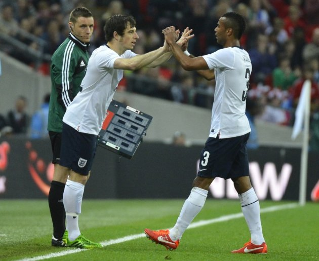 Leighton Baines and Ashley Cole