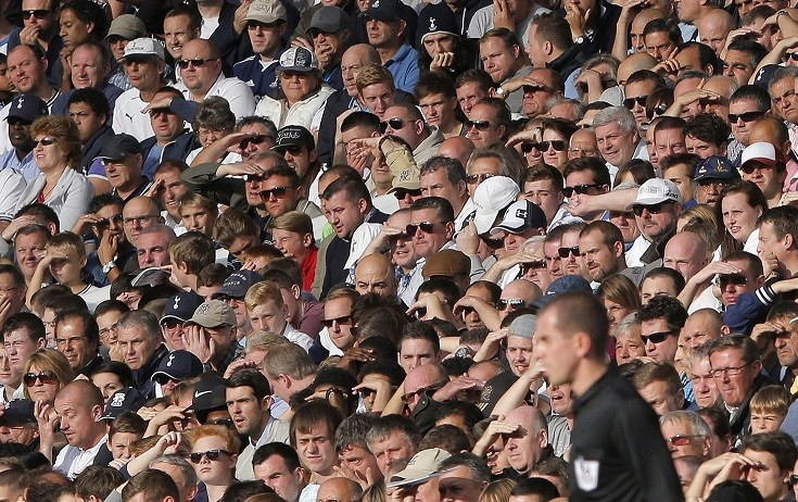 Tottenham Hotspur fans ignored warnings not to chant 'Yid' PIC: Reuters