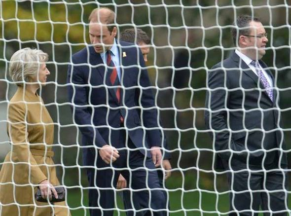 Prince William at the match at Buckingham Palace PIC: FA