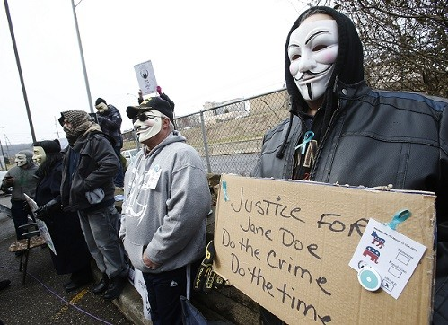 The case gained worldwide attention thanks to a campaign by Anonymous (Reuters)