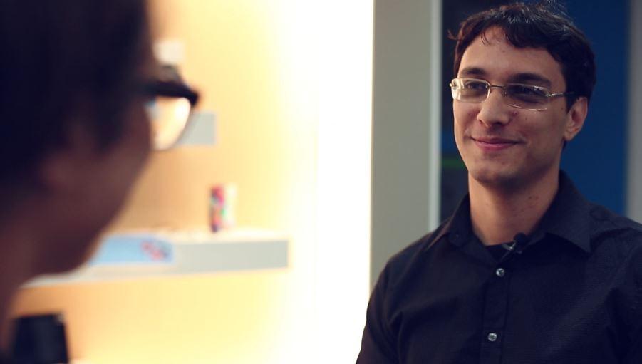 Milan Stojic, senior development lead in the SQL Server Team at Microsoft, in Belgrade speaks to IBTimes UK (Photo: IBTimes UK)