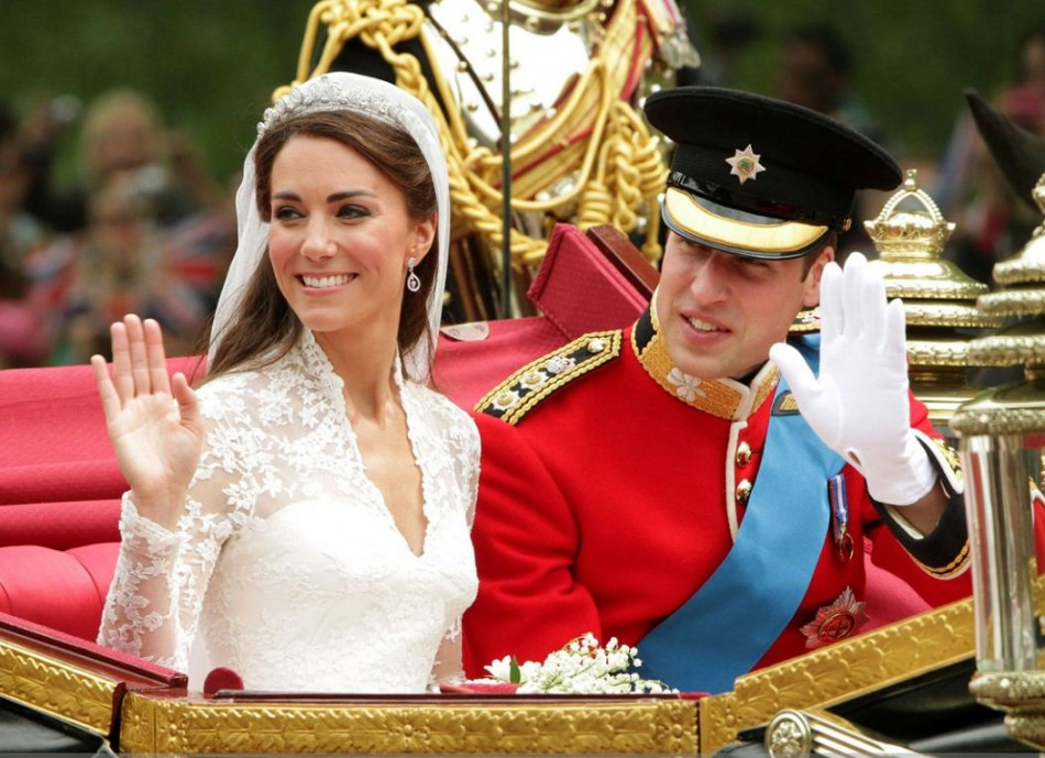 Prince William and Kate Middleton after their wedding on 29 April, 2011. William and Kate's wedding was the most-watched event online ever. Britain may soon witness another such big royal wedding of Prince Harry next year. (Photo: Clarence House)