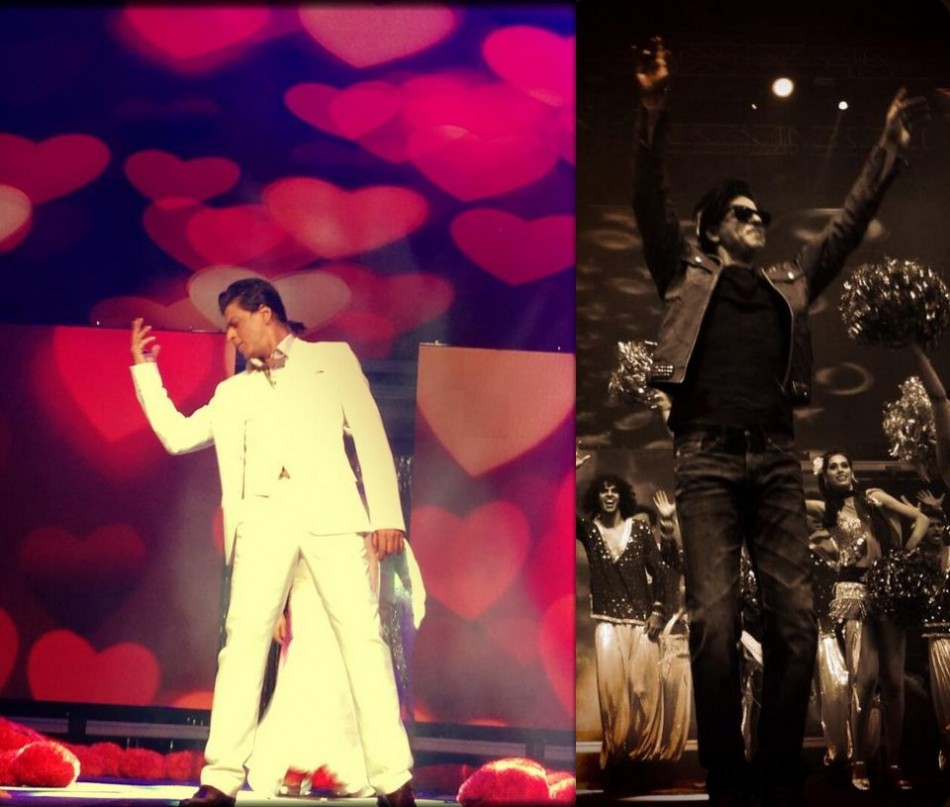 Expressing love through dance, Shah Rukh Khan performs on his romantic numbers in Sydney. (Photo: Twiter/@iamsrk)